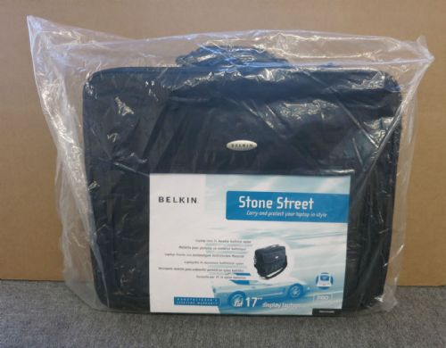Belkin F8E157EAXXL Stone Street 17 Inch Laptop Carry Case Black New Sealed